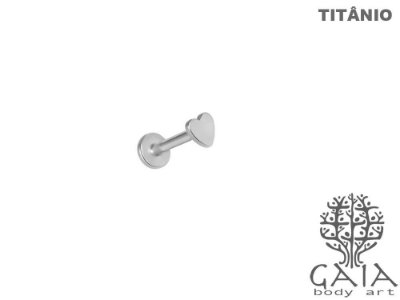 Labret Titânio Coração