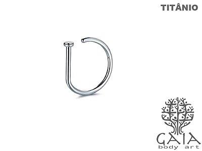 Argola D-Ring Titânio Natural