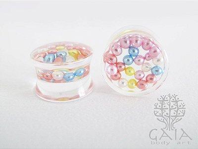 Alargador Esferas Peroladas Candy Color