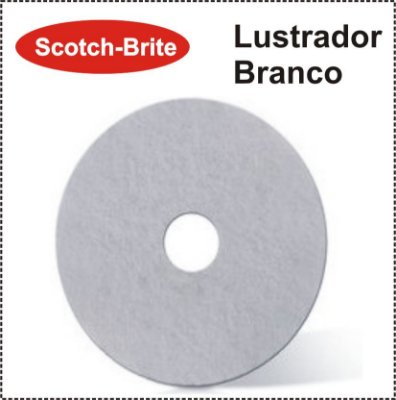 Disco Scotch-Brite Plus - Lustrador Branco 3M