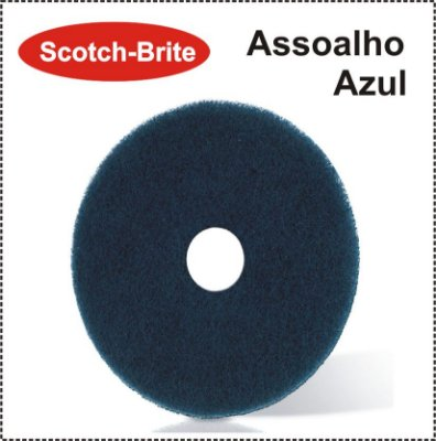 Disco Scotch-Brite Plus - Assoalho Azul 3M