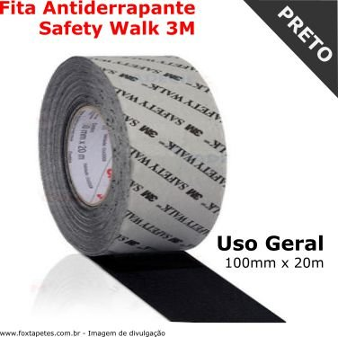 Fita Antiderrapante Safety Walk 3M - Uso Geral - 100mm x 20m