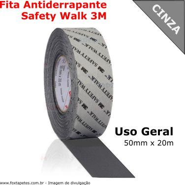 Fita Antiderrapante Safety Walk 3M - Uso Geral - Cinza - 50mm x 20m