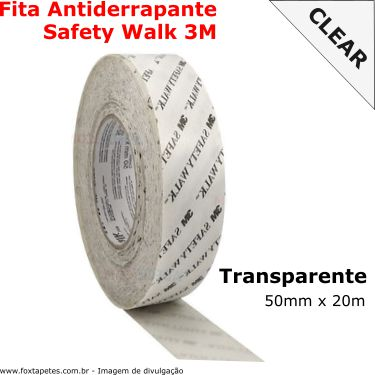 Fita Antiderrapante Safety Walk 3M - Clear - 50mm x 20m