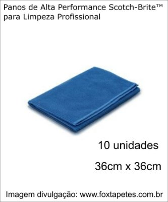 Pano de Alta Performance Scotch-Brite™ - Azul - 10 unidades