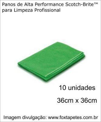 Pano de Alta Performance Scotch-Brite™ - Verde - 10 unidades