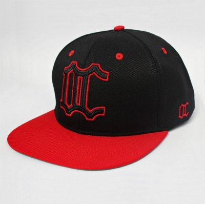 Boné Snapback Old city - Model logo - Black Red .