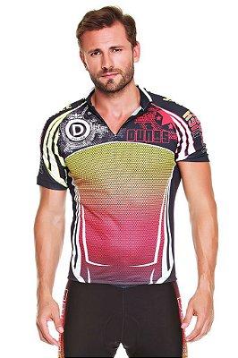 Camisa Masculina Manga Curta Ciclismo Basic Line Glow Dunas