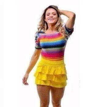 Short Babadinho Amarelo