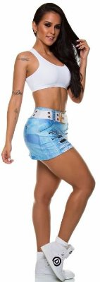 Short Saia Digital Jeans 86