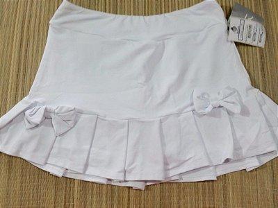 Short Saia Babado Laço Branco