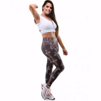 Legging Digital Jeans Cruz Preta