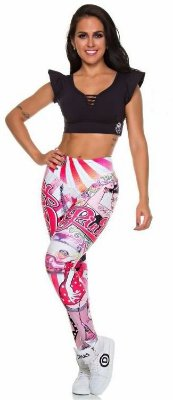 Legging Digital Pin Up Cartoon