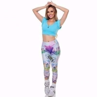 Legging Digital Princess Castelo