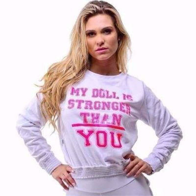 Blusa Moletom Doll Branco