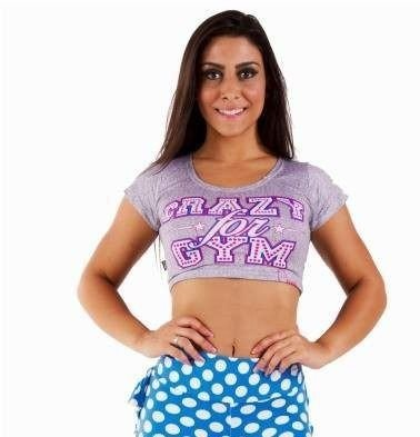 Blusa Curta Crazy For Gym
