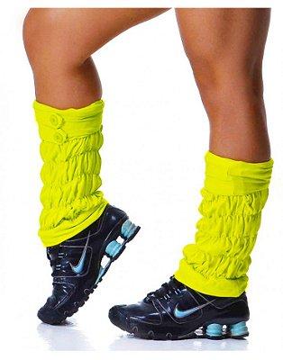 Polaina Fitness Amarelo Flúor
