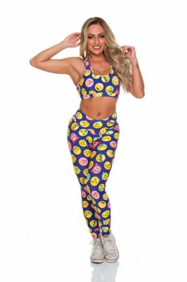 Legging Smile Azul