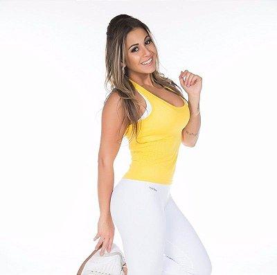 Regata Nadador Furadinha Amarela