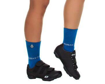 Meia Curta Ciclismo Fitness Azul Bic