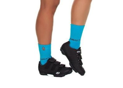 Meia Curta Ciclismo Fitness Azul