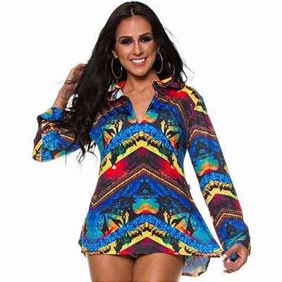 Vestido de Praia África Azul