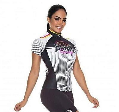 Camisa Feminina Manga Curta Tricolor