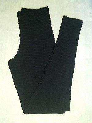 Calça Legging Jacquard Preta