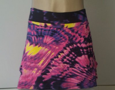 Short Saia Roxa Estampada