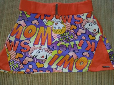 Short Saia Cinto Cartoon