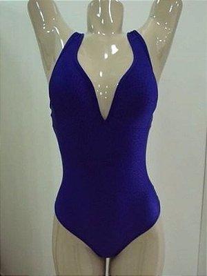 Body com Bojo Cirre Texturizado Azul