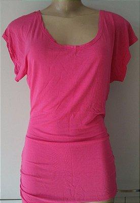 Blusa Lateral Franzida Pink