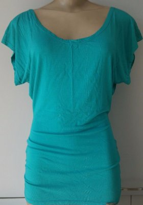 Blusa Lateral Franzida Verde