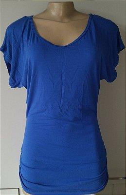 Blusa Lateral Franzida Azul