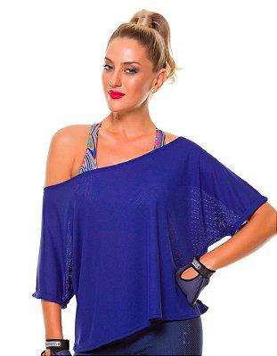Blusa Larga Azul Royal