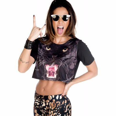 Blusa Curta Phanter