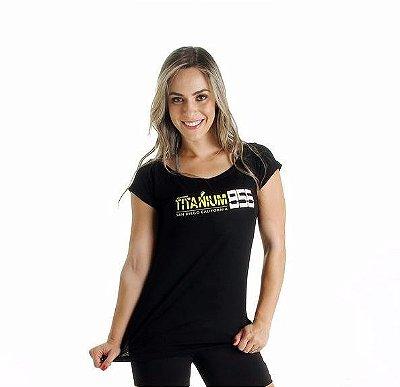 Camiseta Titanium Preta Amarelo Flúor