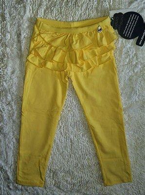 Legging Infantil Babadinho Amarela Grátis uma Tiara