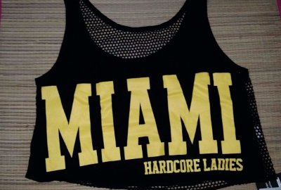 Cropped Miami Amarelo