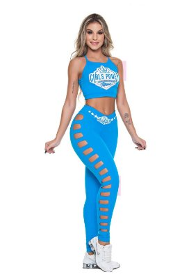 Legging Power Azul Turquesa