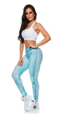 Legging Digital Jeans Caveira