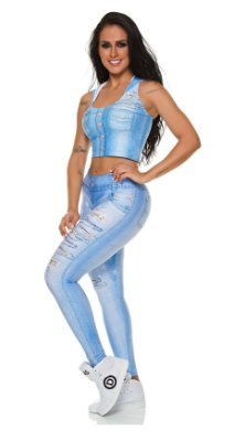 Legging Digital Jeans Estrela