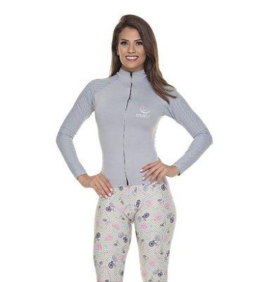 Camisa Feminina Manga Longa Cinza