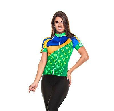 Camisa Feminina Manga Curta Vai Brasil (PEQUENA AVARIA)