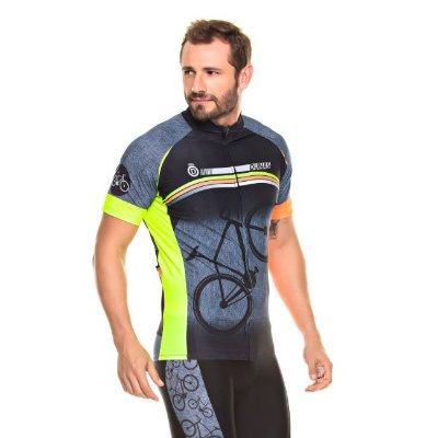 Camisa Masculina Manga Curta Cycling Bike