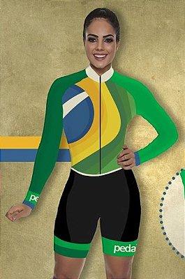 Macaquinho Feminino Manga Longa Fran dunas cycling