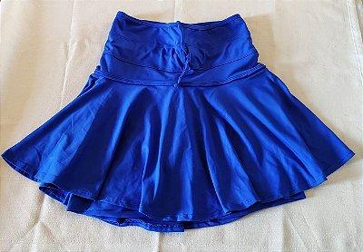 Short Saia Cós Ajuste Azul Bic