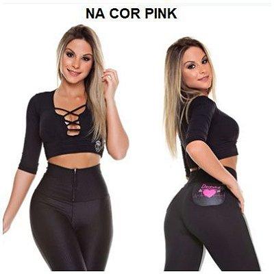 Blusa Cruzada 3/4 Pink