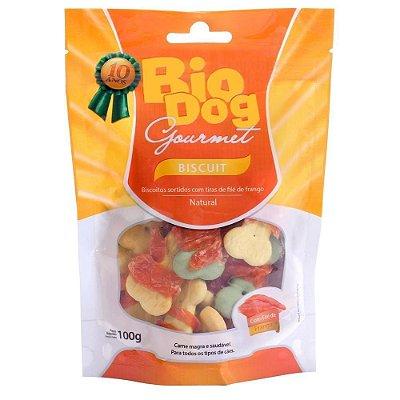 BioDog Gourmet Biscuit com Tirinha de Frango 100g
