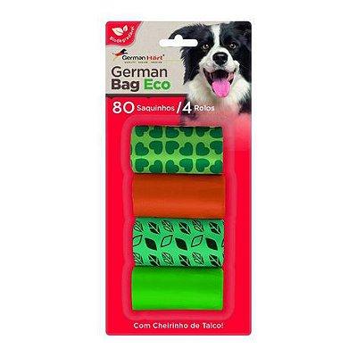 Kit Refil Saquinhos Cata Caca German Hart Eco Folhas 4 Rolos